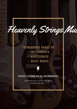 Music Store Offer with Electric Guitars