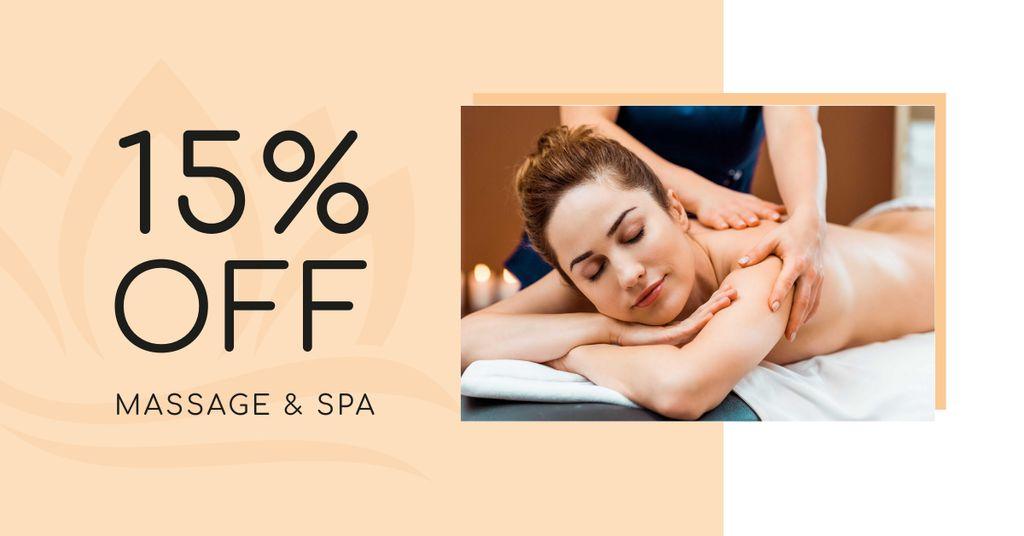 Massage Services Discount Offer Facebook AD Design Template