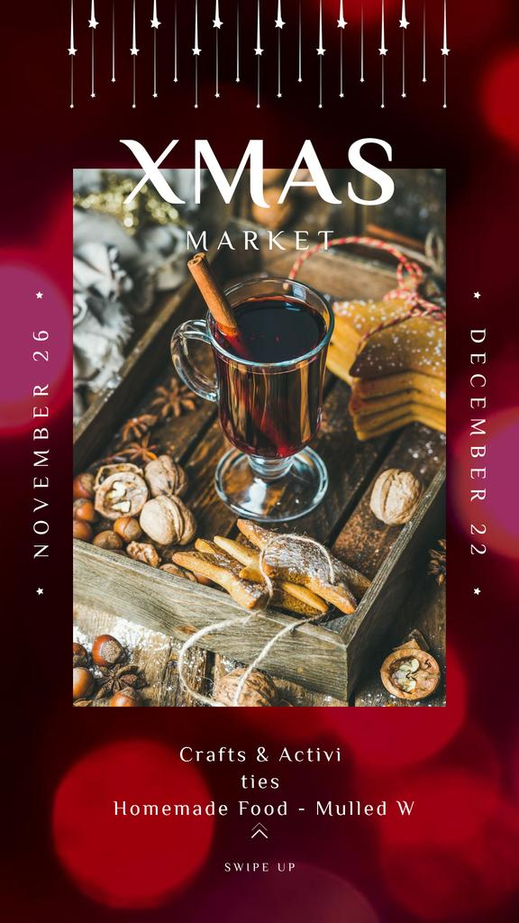 Mulled Red Wine for Christmas Celebration — Maak een ontwerp
