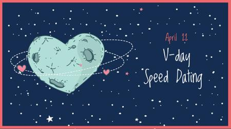 Speed Dating on Valentine's Day Announcement FB event cover Modelo de Design