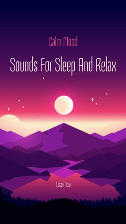 Modèle de visuel Sounds for Sleep and Relax - Instagram Story