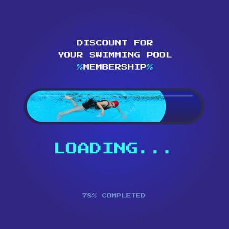 Swimming Poll discount loading bar Instagram Modelo de Design
