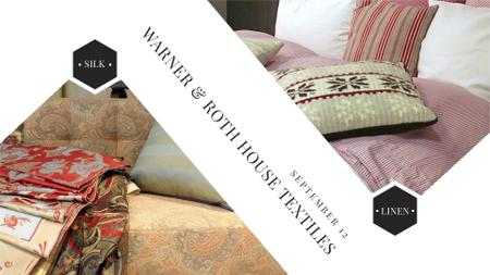 Plantilla de diseño de Home Textile Offer with Cozy bedroom FB event cover