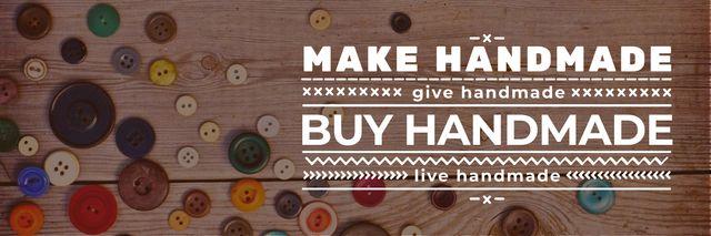 banner for handicrafts store with buttons Twitter – шаблон для дизайна