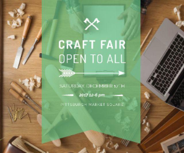 Craft fair in Pittsburgh Medium Rectangleデザインテンプレート