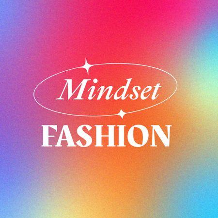 Fashion Store Ad with Bright Gradient Logo – шаблон для дизайну