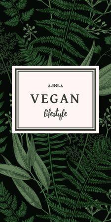 Modèle de visuel Vegan Lifestyle Concept with Green Leaves - Graphic