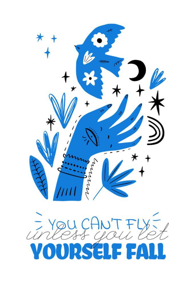 Szablon projektu Mental Health Inspiration with abstract illustration Tumblr