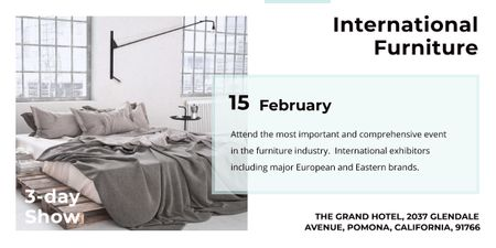 Plantilla de diseño de International furniture show Image