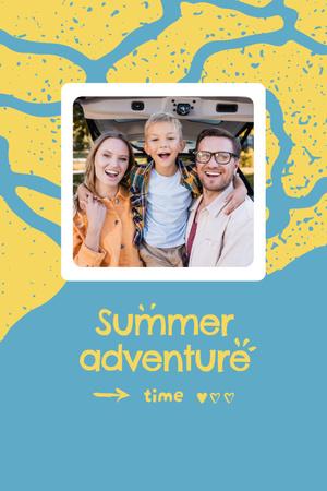 Plantilla de diseño de Summer Inspiration with Happy Family in Sea Pinterest