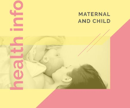 Mother Embracing Baby Medium Rectangleデザインテンプレート