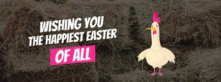 Chicken laying Easter egg Facebook Video cover Design Template