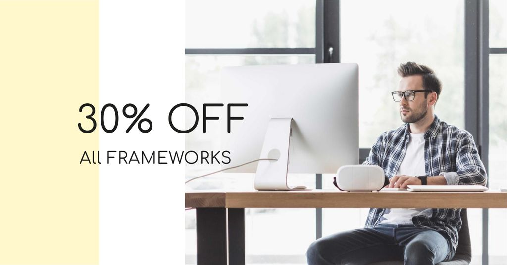 Businessman working on Computer — Modelo de projeto