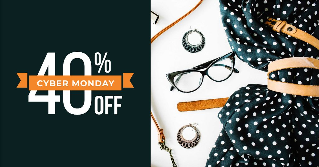 Cyber Monday Special Discount Offer Facebook AD Design Template