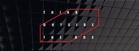 Creative Mindset Phrase on Black Glass Texture Facebook cover Tasarım Şablonu