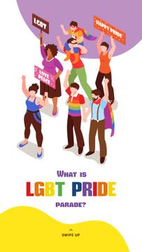 People at pride parade