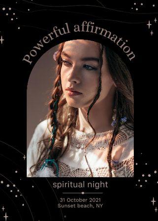Spiritual Night on Halloween Announcement Invitation – шаблон для дизайна