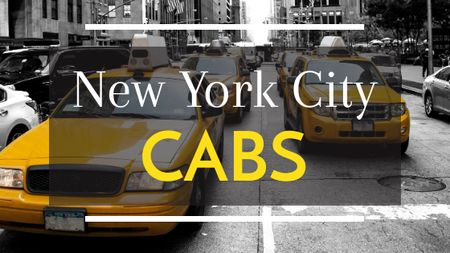 Ontwerpsjabloon van Title van Taxi Cars in New York city