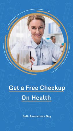 Free Health Checkup on Self Awareness Day Offer Instagram Story Design Template
