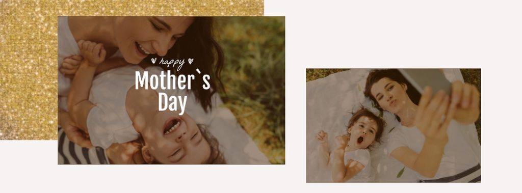 Mother's Day Smiling Mom and Daughter — Crear un diseño