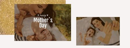 Template di design Mother's Day Smiling Mom and Daughter Facebook Video cover