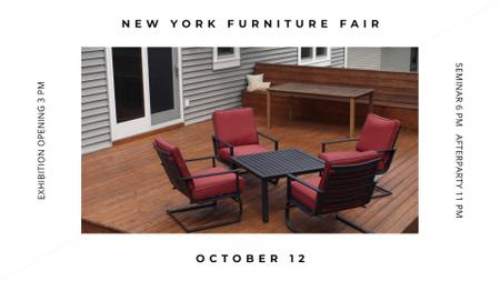 Ontwerpsjabloon van FB event cover van Furniture Fair announcement