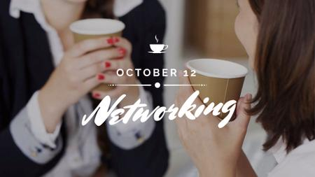 Business Women holding Coffee cups FB event cover – шаблон для дизайна