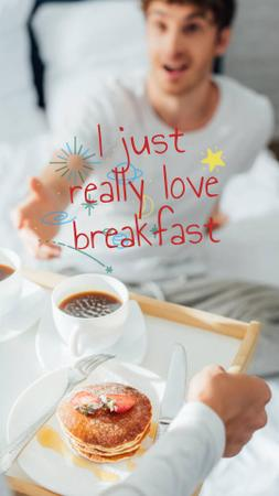 Modèle de visuel Coffee and Pancakes for Breakfast - Instagram Story