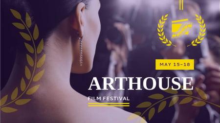 Ontwerpsjabloon van FB event cover van Film Festival Announcement with Actress