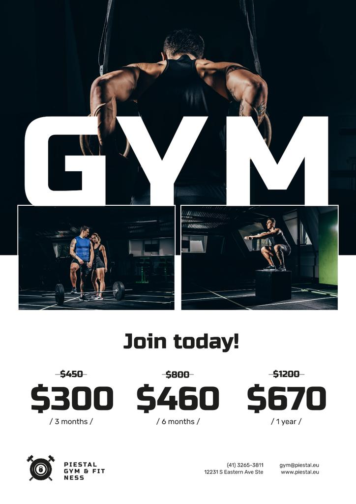Gym Offer with People doing Workout — Créer un visuel