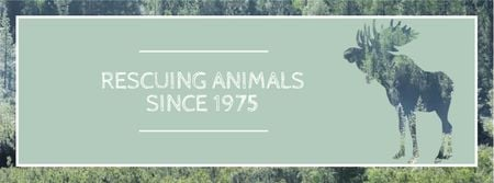 Template di design Eco organization with Wild Moose Facebook cover