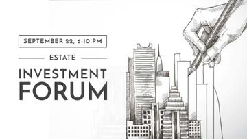 Real Estate Forum with Skyscrapers illustration