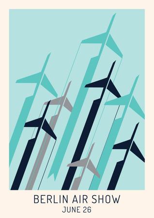 Plantilla de diseño de Berlin air show poster Poster