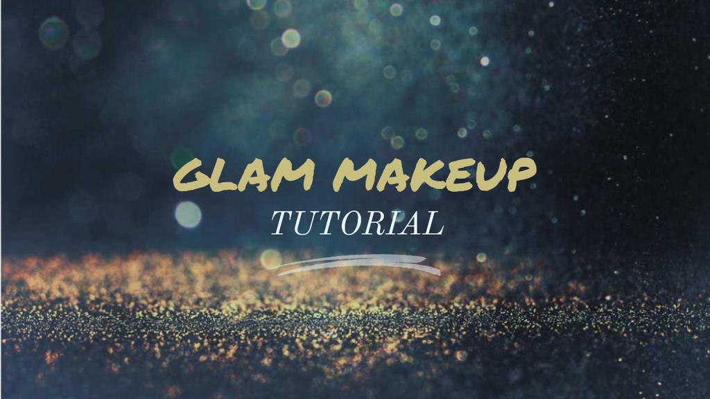 Glamorous Ad Shining Golden Glitter — Crear un diseño
