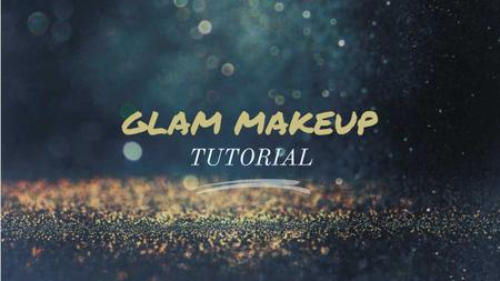 Glamorous Ad Shining Golden Glitter Youtube Thumbnail Design Template