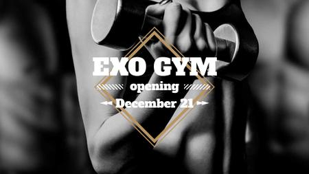 Designvorlage Gym Opening Announcement with Athlete für FB event cover