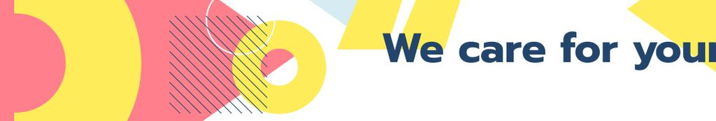 Financial Company slogan on geometric pattern LinkedIn Cover – шаблон для дизайна