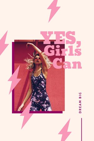 Modèle de visuel Beautiful Young Woman posing in City - Tumblr