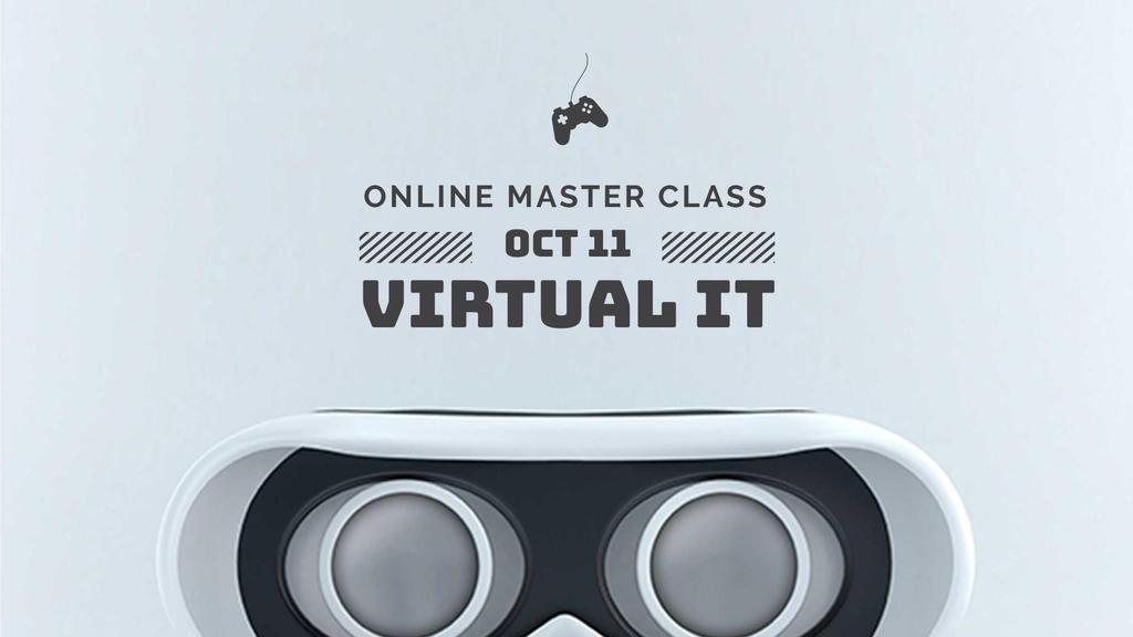 Online Masterclass Announcement with Cute Android FB event cover Tasarım Şablonu