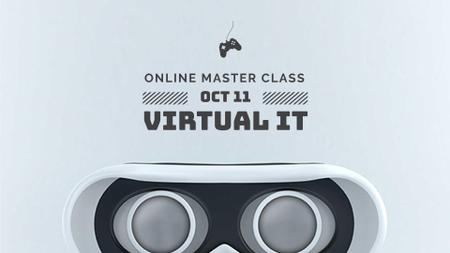 Plantilla de diseño de Online Masterclass Announcement with Cute Android FB event cover