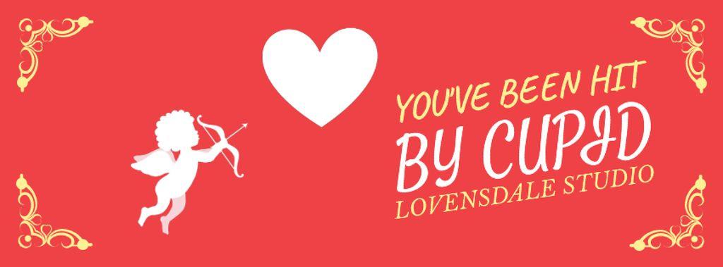 Valentine's Card with Cupid shooting Arrow — Створити дизайн