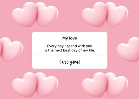 Valentine's Day greeting with Hearts Postcard Modelo de Design
