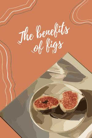 Fresh Figs on Plate Pinterest Design Template
