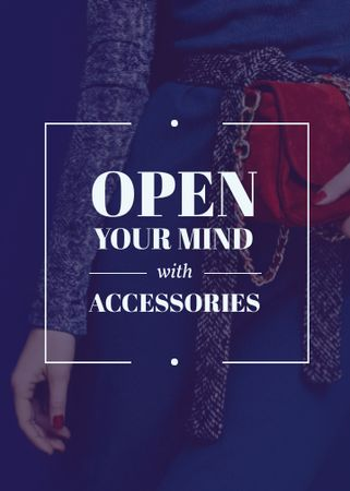 Accessories Quote Stylish Woman in Blue Flayer – шаблон для дизайну