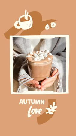Autumn Inspiration with Marshmallows in Cocoa Instagram Story – шаблон для дизайна