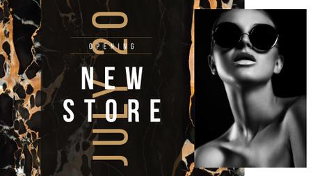 Beautiful young girl in Sunglasses FB event cover Modelo de Design