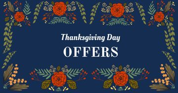 Thanksgiving Day Offers in Floral Frame
