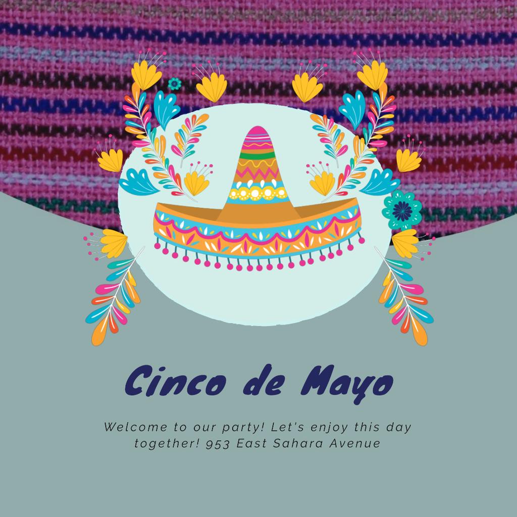Cynco de Mayo Mexican holiday with Bright Sombrero — Maak een ontwerp