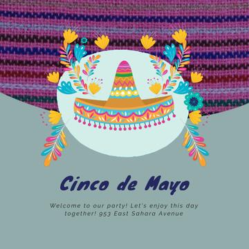Cynco de Mayo Mexican holiday with Bright Sombrero
