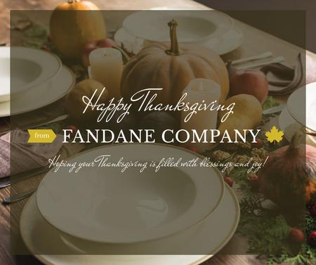 Template di design Thanksgiving Dinner with Roasted Turkey Facebook